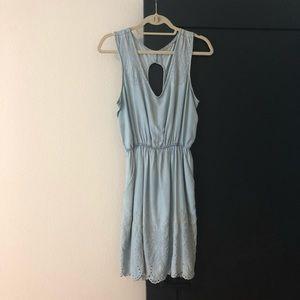 Anthropologie Chambray Sleeveless Dress